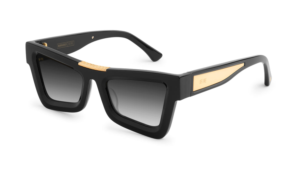 9FIVE Marauder Black & 24k Gold - Gradient Sunglasses