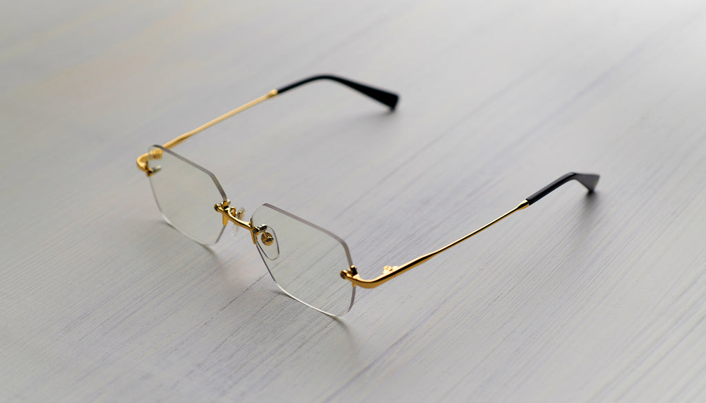 9FIVE Clarity 24k Gold Clear Lens Glasses