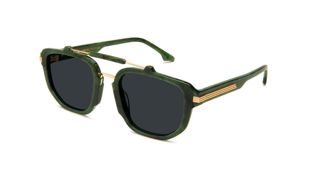 9FIVE Lawrence Jade Stone & 24k Gold Sunglasses