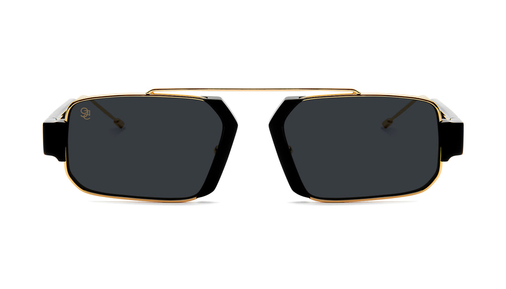 9FIVE Logan Black & 24K Gold Sunglasses Rx