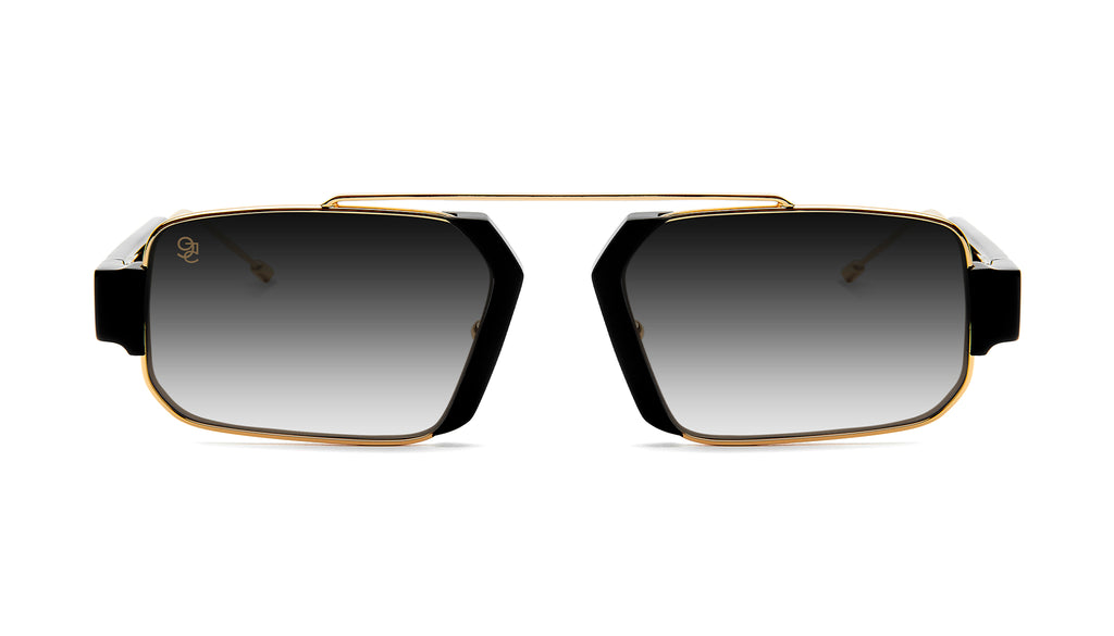 9FIVE Logan Black & 24K Gold - Gradient Sunglasses