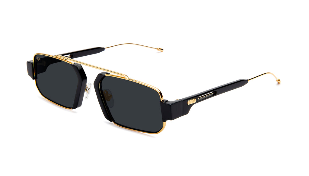 9FIVE Logan Black & 24K Gold Sunglasses