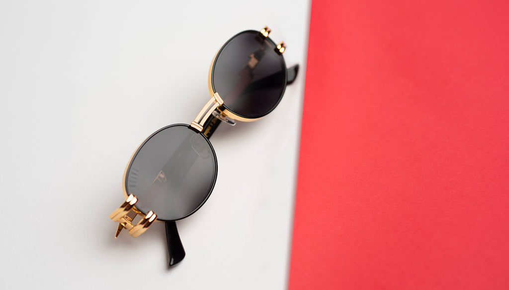 9FIVE St. James Bolt Black & 24k Gold - Gradient Sunglasses