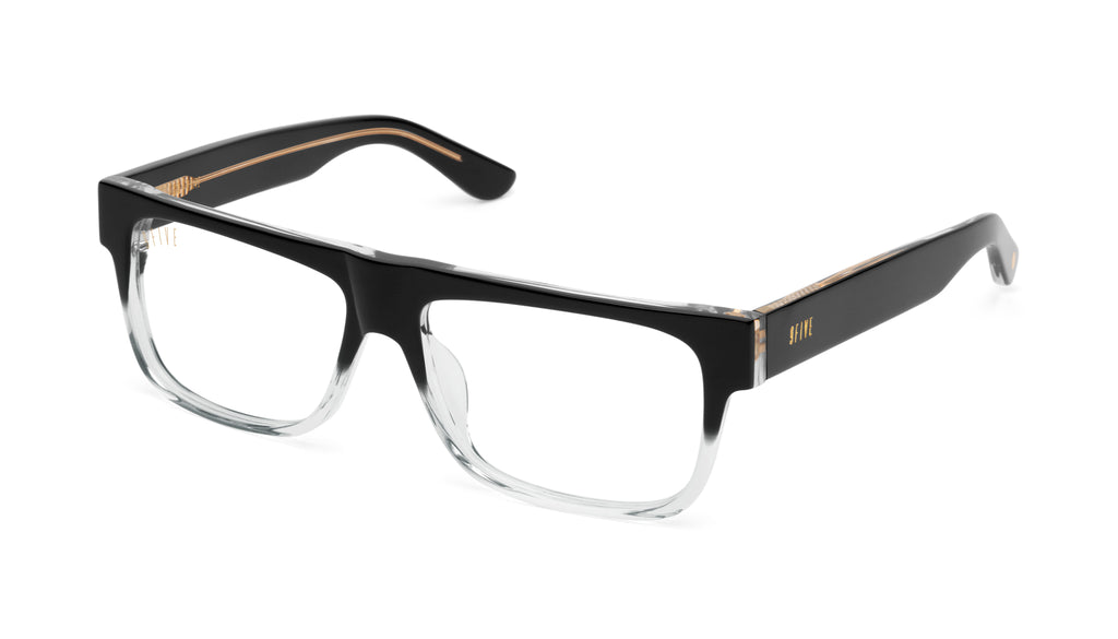 9FIVE 21 Locs Black Fade Clear Lens Glasses