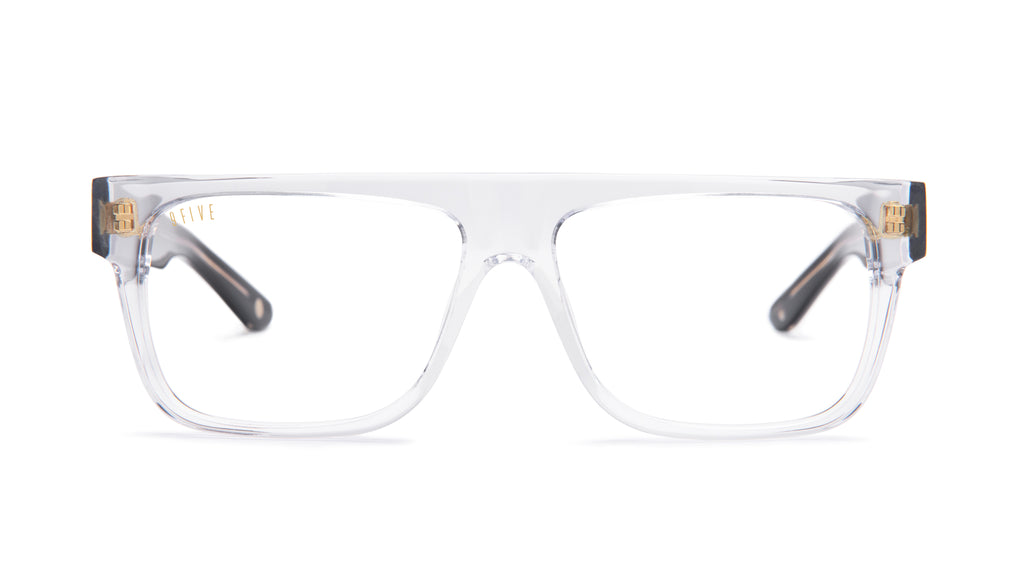 9FIVE 21 Locs Black Ice Clear Lens Glasses