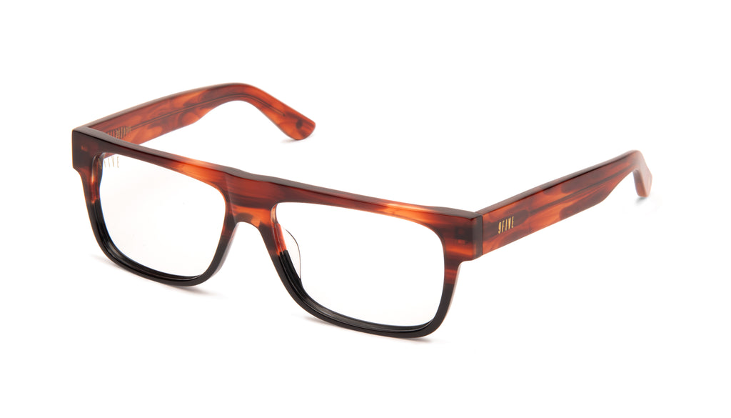 9FIVE 21 Locs Havana Clear Lens Glasses