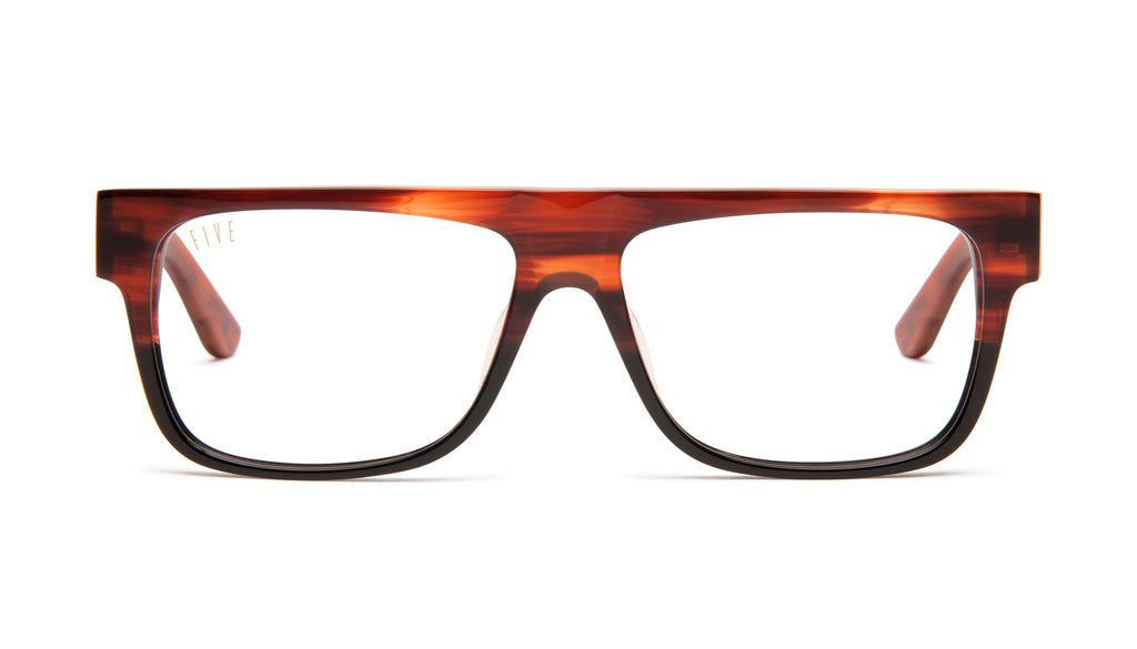 9FIVE 21 Locs Havana Clear Lens Glasses Rx