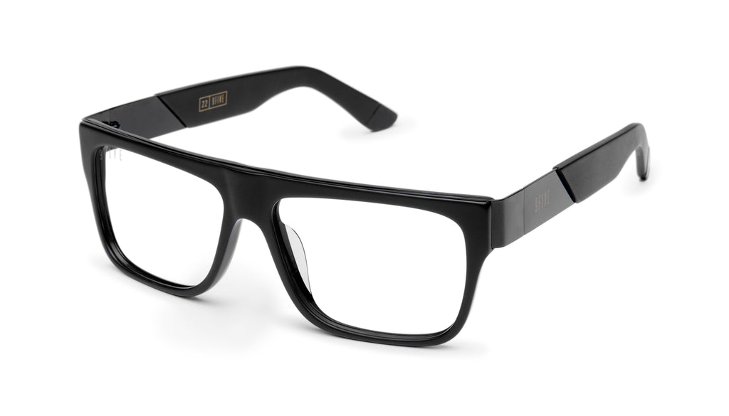 9FIVE 22 Matte Blackout Clear Lens Glasses Rx