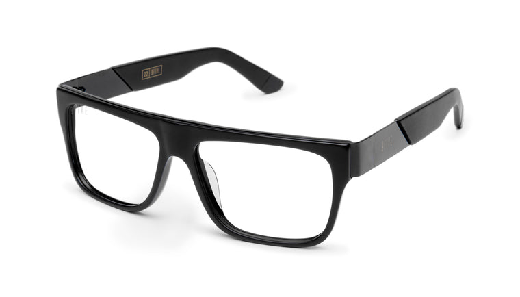 9FIVE 22 Matte Blackout Clear Lens Glasses