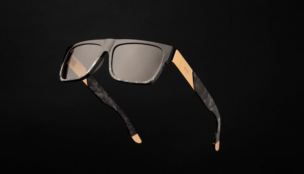 9FIVE 22 Black Marble & 24k Gold Sunglasses