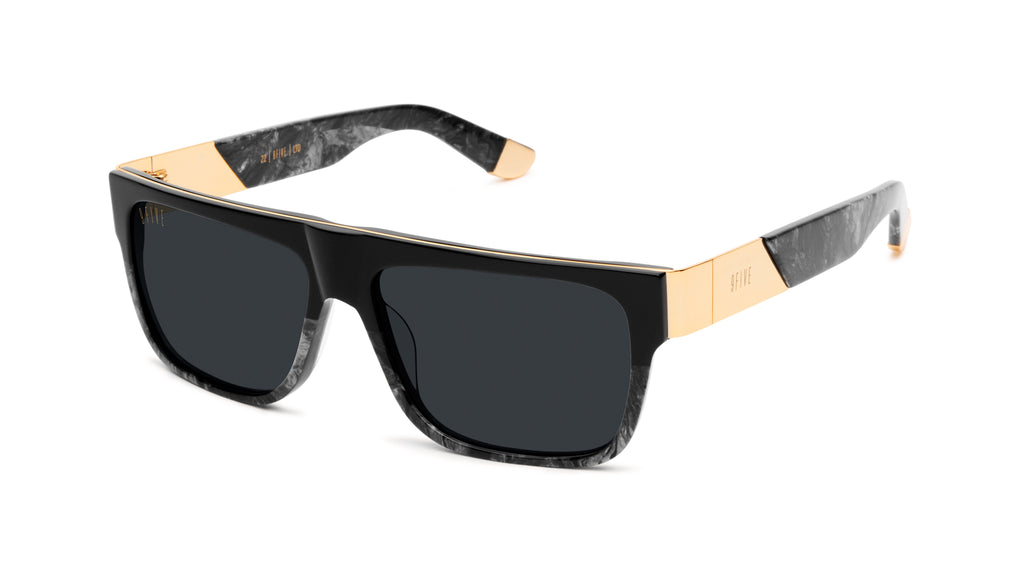 9FIVE 22 Black Marble & 24k Gold Sunglasses Rx
