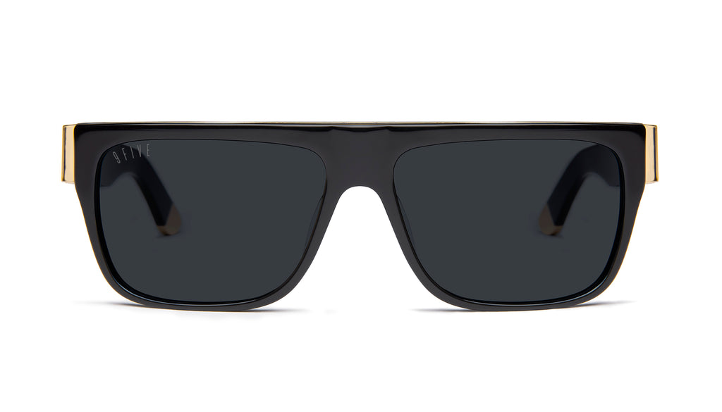 9FIVE 22 Black & 24k Gold Sunglasses