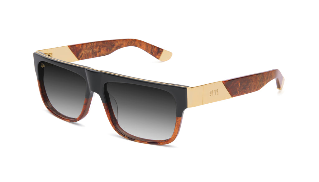 9FIVE 22 Gold Marble & 24k Gold - Gradient Sunglasses