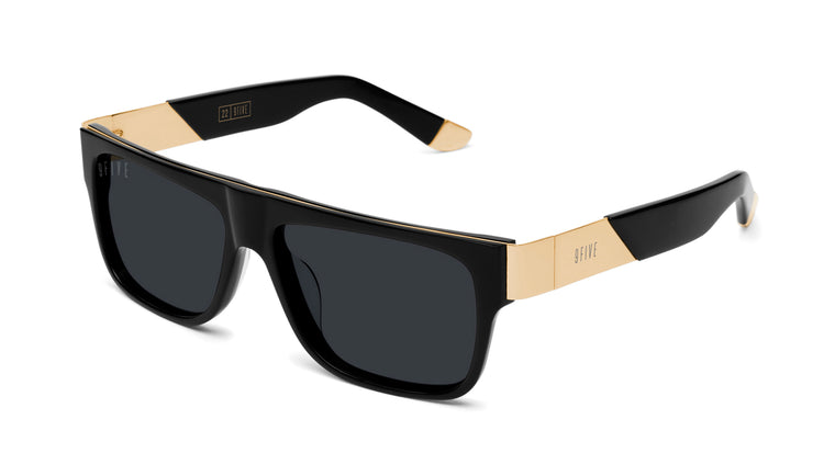9FIVE 22 Black & 24k Gold Sunglasses Rx
