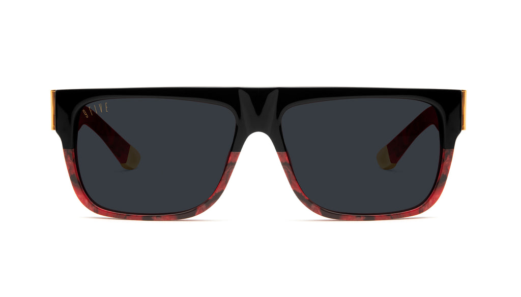 9FIVE 22 Red Marble & 24k Gold Sunglasses Rx
