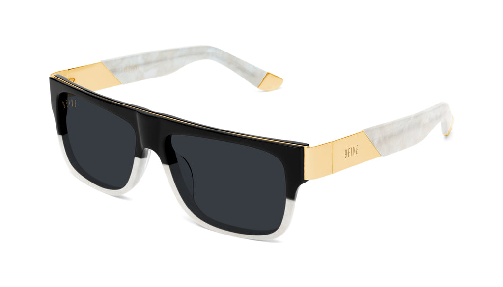 9FIVE 22 Marble Croc & 24k Gold Sunglasses