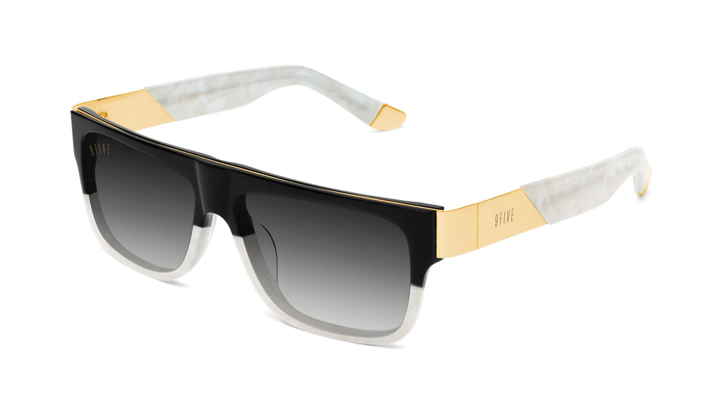 9FIVE 22 Marble Croc & 24k Gold - Gradient Sunglasses