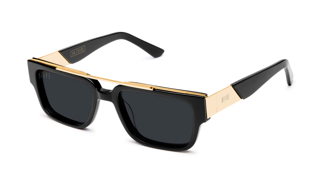 9FIVE 24 Black & 24K Gold Sunglasses Rx