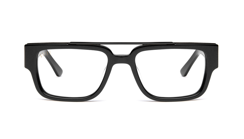 9FIVE 24 Matte Blackout Clear Lens Glasses