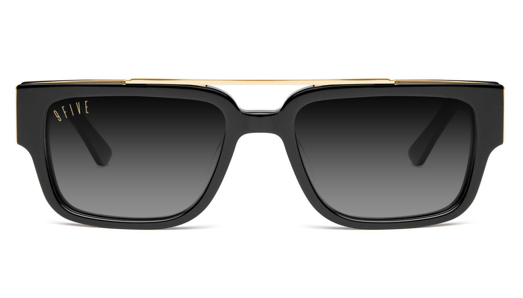 9FIVE 24 Black & 24K Gold XL - Gradient Sunglasses