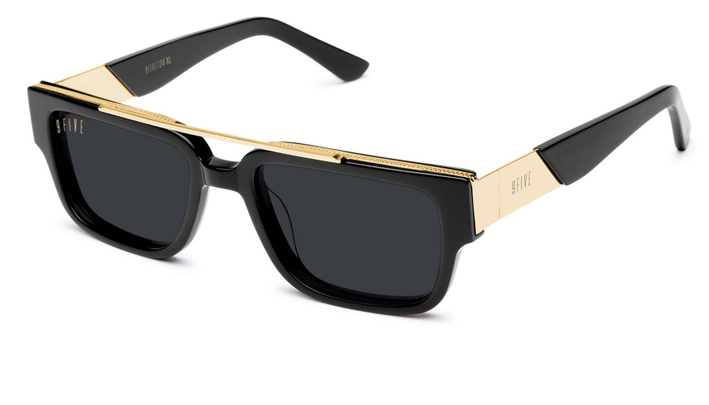 9FIVE 24 Black & 24K Gold XL Sunglasses