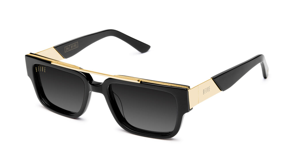 9FIVE 24 Black & 24K Gold - Gradient Sunglasses