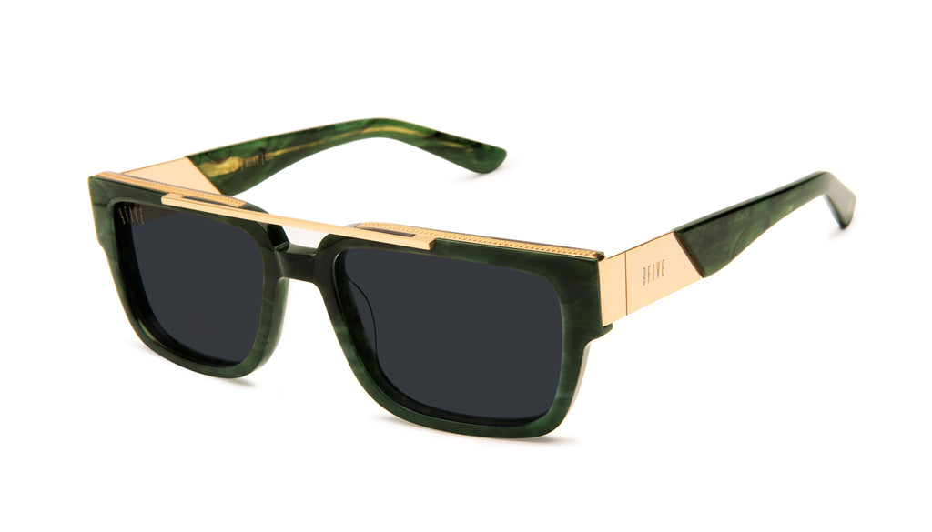 9FIVE 24 Jade Stone & 24k Gold Sunglasses Rx