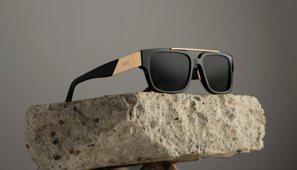 9FIVE 24 Black & 24K Gold Sunglasses