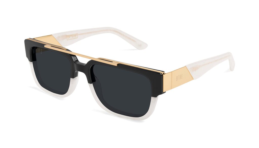 9FIVE 24 Marble Croc & 24K Gold Sunglasses Rx