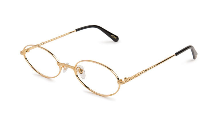 9FIVE 40 24k Gold Clear Lens Glasses