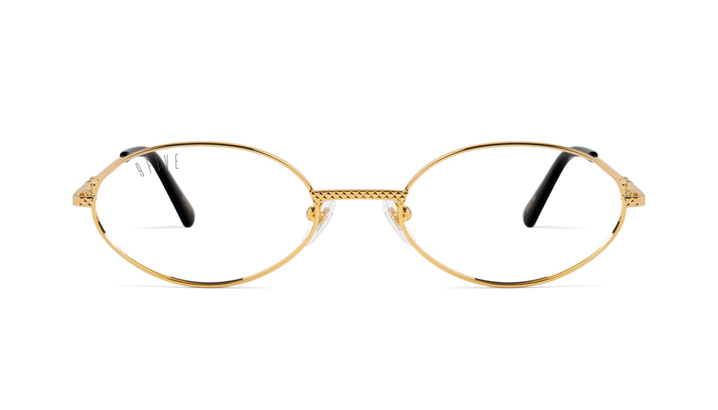 9FIVE 40 24k Gold Clear Lens Glasses Rx