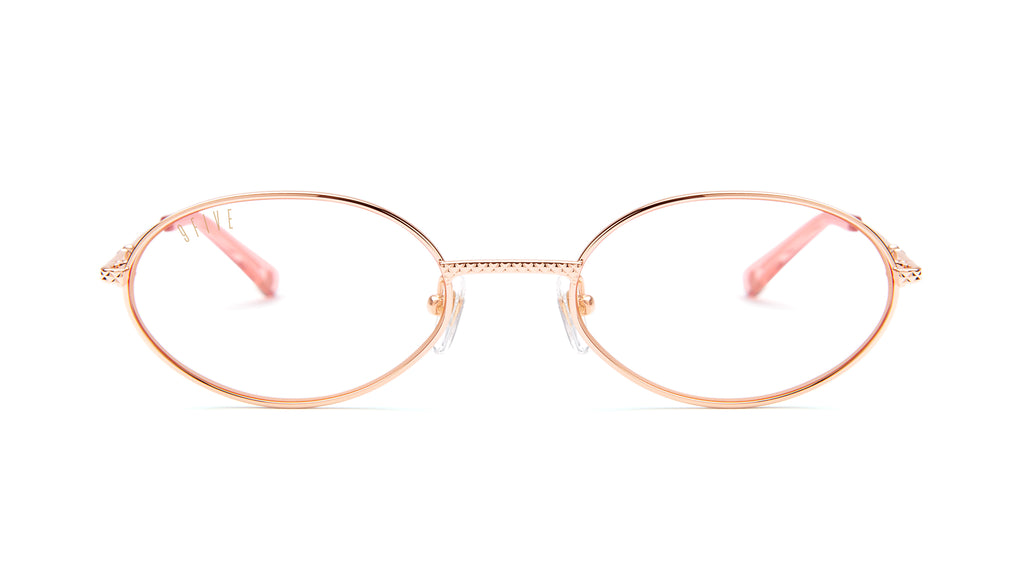 9FIVE 40 Rose Gold Clear Lens Glasses