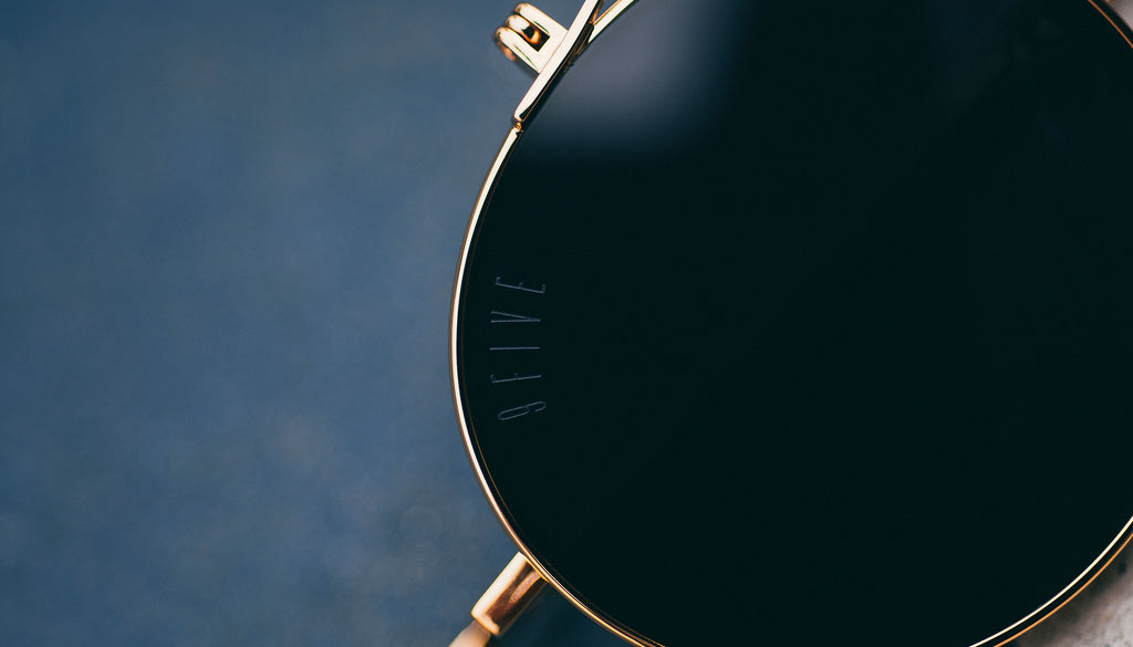 9FIVE 50-50 24K Gold Flip-up Sunglasses Rx