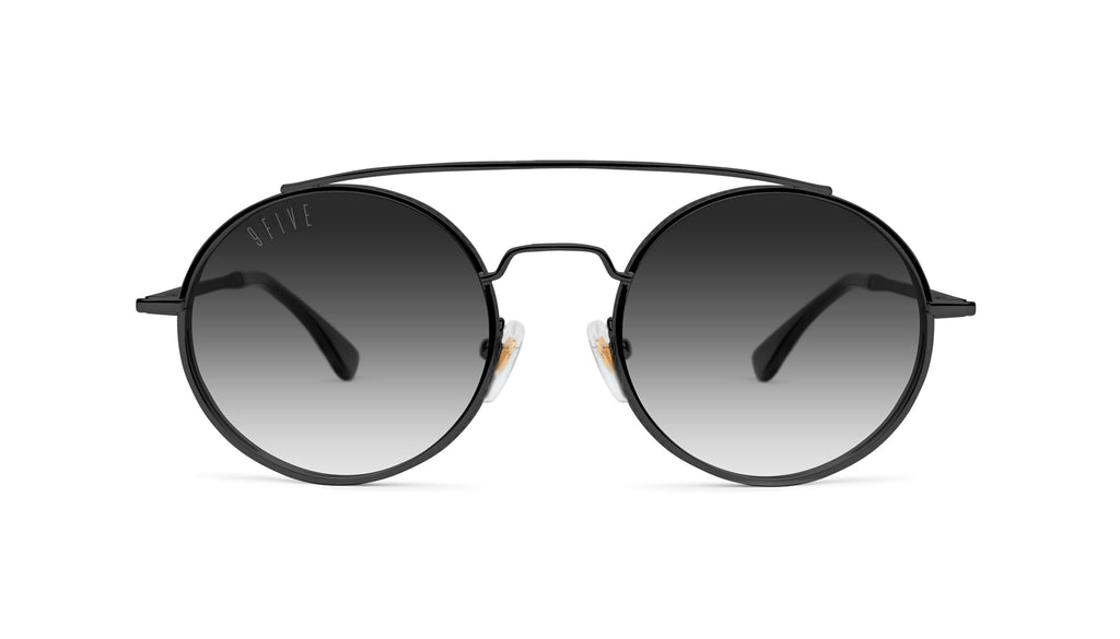 9FIVE 50-50 Blackout - Gradient Round Sunglasses
