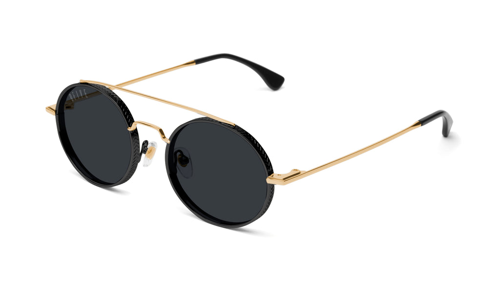 9FIVE 50-50 Black & 24K Gold Sunglasses Rx