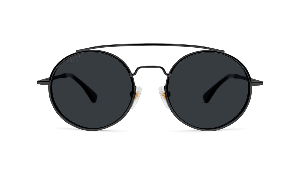 9FIVE 50-50 Blackout Round Sunglasses