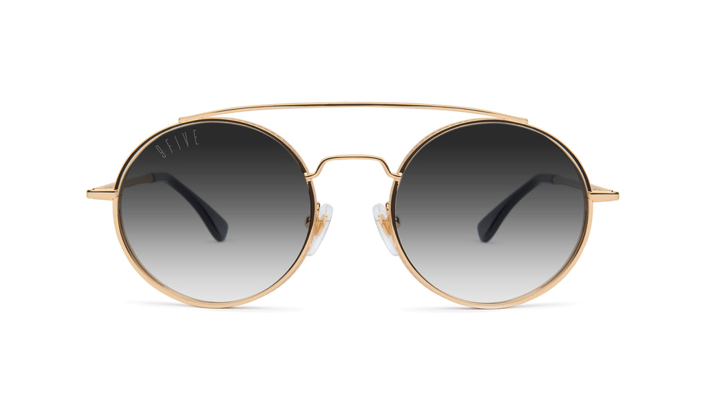 9FIVE 50-50 24K Gold - Gradient Round Sunglasses