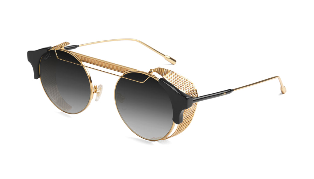 9FIVE 88 Black & 24k Gold - Gradient Sunglasses