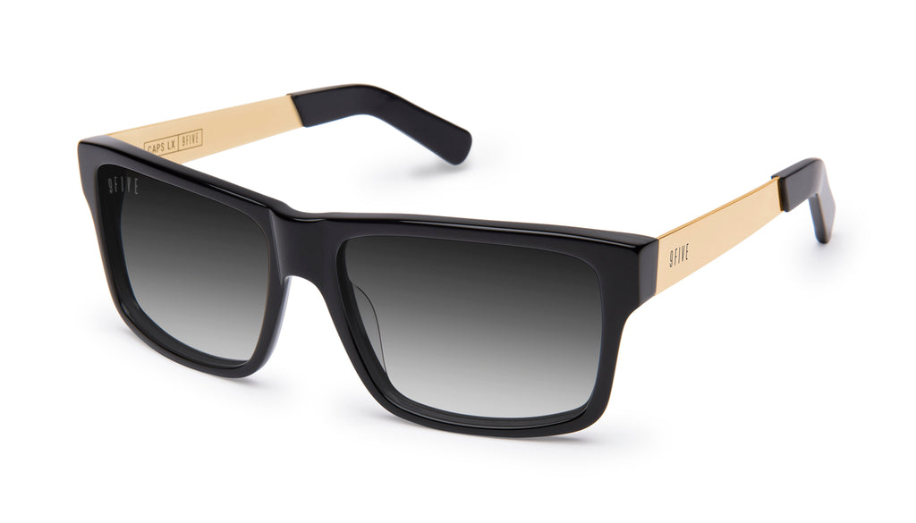 9FIVE Caps LX Black & 24k Gold - Gradient Sunglasses