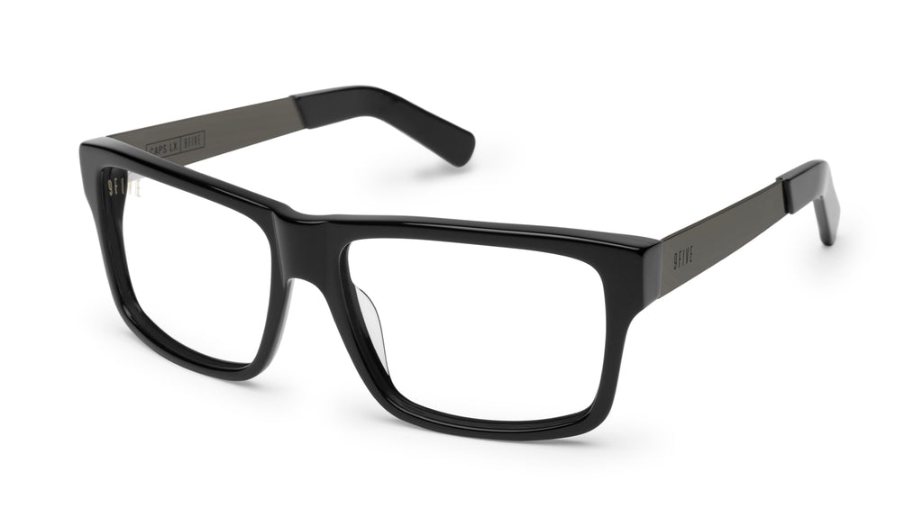 9FIVE Caps LX Gun Metal Clear Lens Glasses