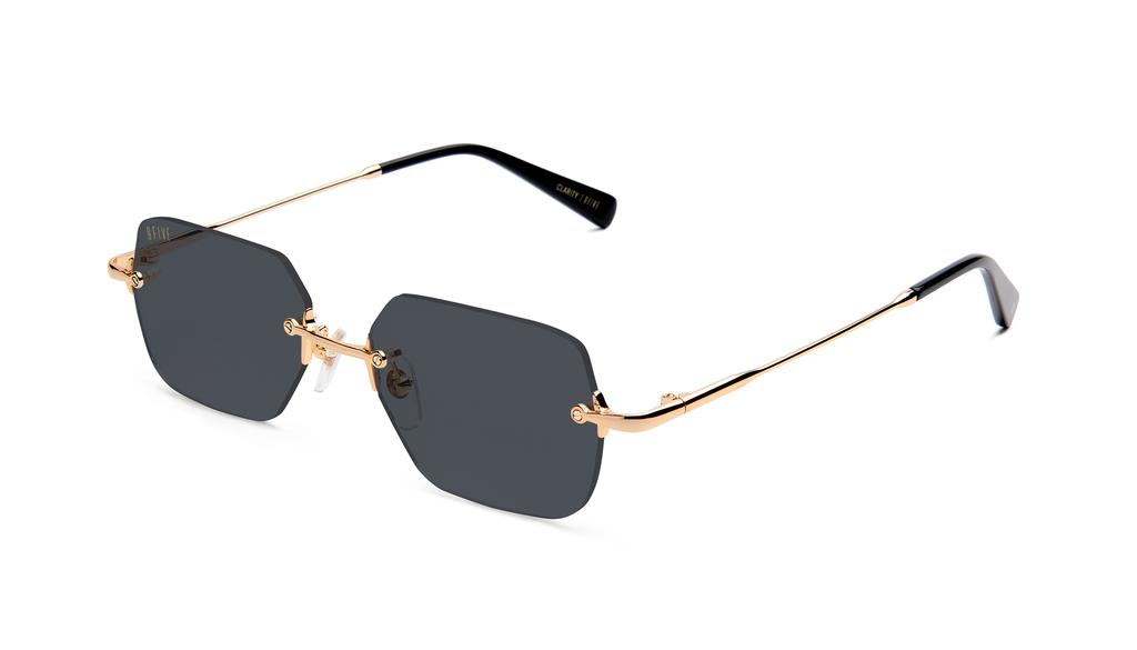9five Clarity Black and Gold Sunglasses
