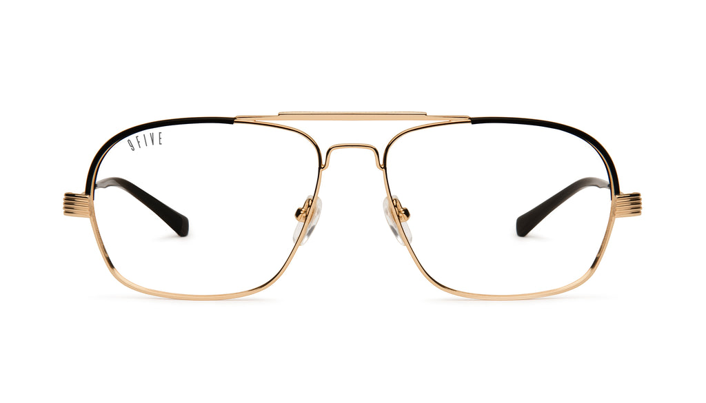 9FIVE Avian 24K Gold Clear Lens Glasses Rx
