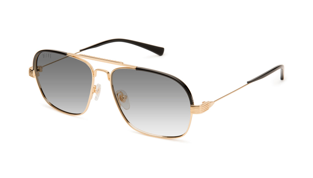 9FIVE AVIAN 24K Gold Ultra Light Gradient Sunglasses