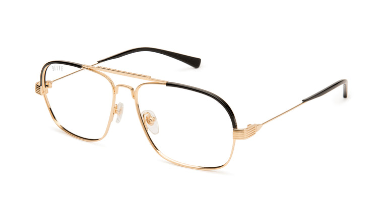 9FIVE Avian 24K Gold Clear Lens Glasses