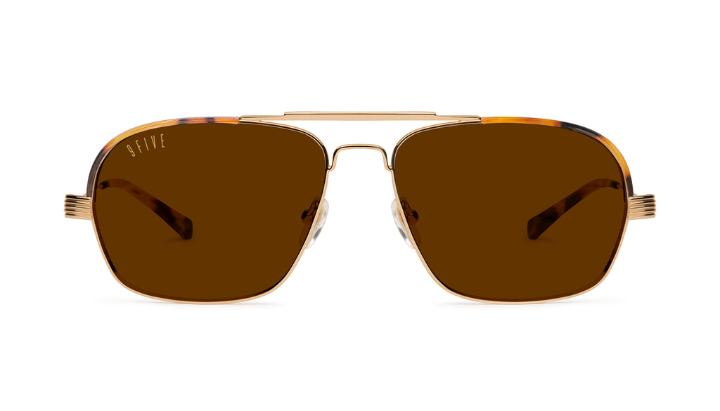 9FIVE Avian Tortoise & 24K Gold Sunglasses
