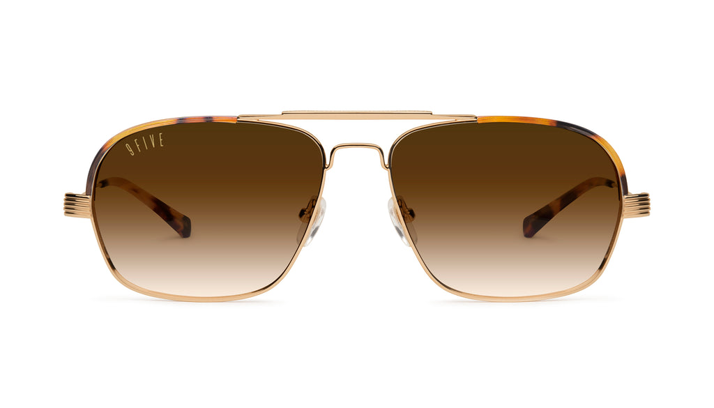 9FIVE Avian Tortoise & 24K Gold - Gradient Sunglasses