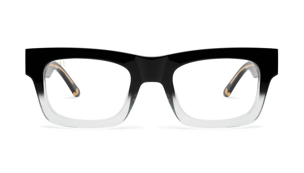 9FIVE Ayden Black Fade Clear Lens Glasses