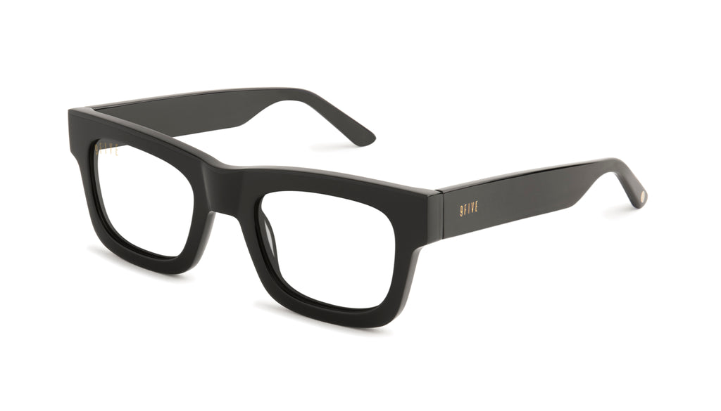 9FIVE Ayden Black Clear Lens Glasses