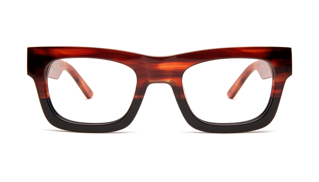 9FIVE Ayden Havana Clear Lens Glasses Rx