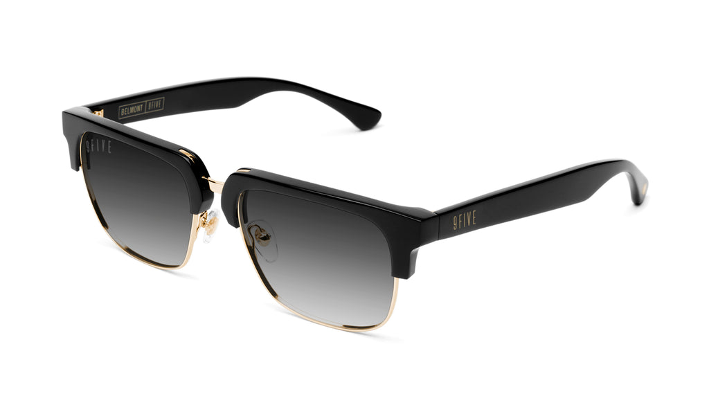 9FIVE Belmont Black & 24K Gold - Gradient Sunglasses